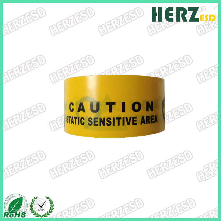 """HZ-1401A Wholesales ESD Warning Tape printing """"Caution"""""""