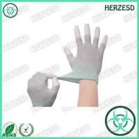 HZ-4503F ESD PU Tip Carbon Fiber Gloves