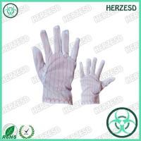 HZ-4501 100% Polyester ESD Striped Gloves