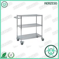 HZ-28103 Three Layers ESD Wire Shelf Trolley